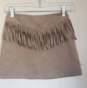 Youth H&M Fringe Skirt T6-41